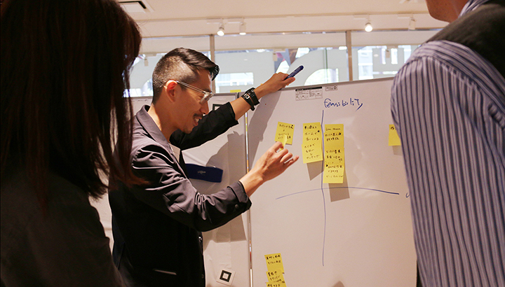アイデアを定性的にプロットしながら体験の文脈をつくっていく